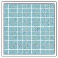 Gulfstone Quartz Aquamarine sparkly mirror tile in 2.5x2.5cm