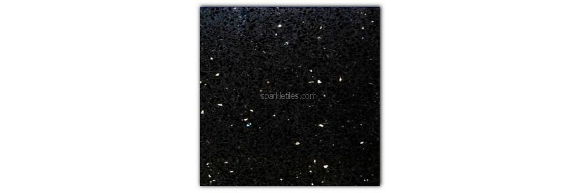 Black opal sparkly mirror tile