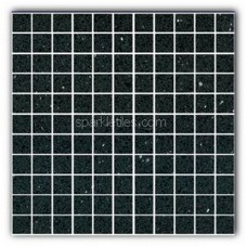 Gulfstone Quartz Black opal sparkly mirror tile in 2.5x2.5cm