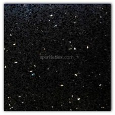 Gulfstone Quartz Black opal sparkly mirror tile in 15x15cm