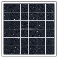 Gulfstone Quartz Black opal sparkly mirror tile in 4.7x4.7cm