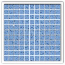 Gulfstone Quartz Classic blue sparkly mirror tile in 2.5x2.5cm