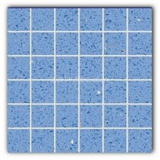 Gulfstone Quartz Classic blue sparkly mirror tile in 4.7x4.7cm