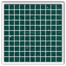 Gulfstone Quartz Emerald green sparkly mirror tile in 2.5x2.5cm