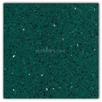 Gulfstone Quartz Emerald green sparkly mirror tile in 40x40cm