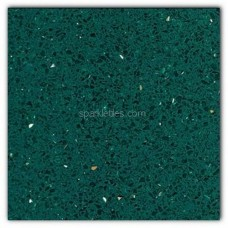 Gulfstone Quartz Emerald green sparkly mirror tile in 15x7.5cm