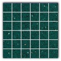 Gulfstone Quartz Emerald green sparkly mirror tile in 4.7x4.7cm