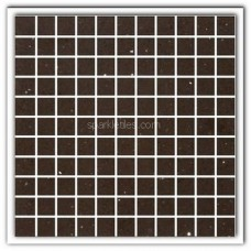 Gulfstone Quartz Mocha brown sparkly mirror tile in 2.5x2.5cm