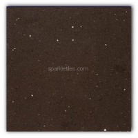 Gulfstone Quartz Mocha brown sparkly mirror tile in 150x250cm