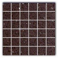 Gulfstone Quartz Mocha brown sparkly mirror tile in 4.7x4.7cm