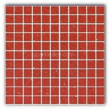 Gulfstone Quartz Rosso red sparkly mirror tile in 2.5x2.5cm