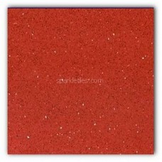 Gulfstone Quartz Rosso red sparkly mirror tile in 90x90cm