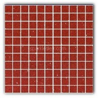 Gulfstone Quartz Ruby red sparkly mirror tile in 2.5x2.5cm