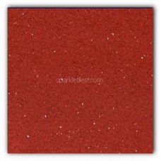 Gulfstone Quartz Ruby red sparkly mirror tile in 15x15cm