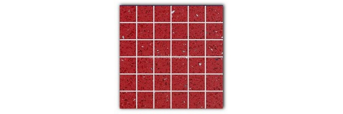 Ruby red stone quartz tile