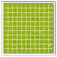 Gulfstone Quartz Salalah lime sparkly mirror tile in 2.5x2.5cm