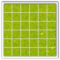 Gulfstone Quartz Salalah lime sparkly mirror tile in 4.7x4.7cm