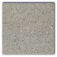 Gulfstone Quartz Silver grey sparkly mirror tile in 15x15cm
