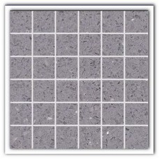 Gulfstone Quartz Silver grey sparkly mirror tile in 4.7x4.7cm