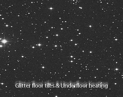 Underfloor heating for glittery tile